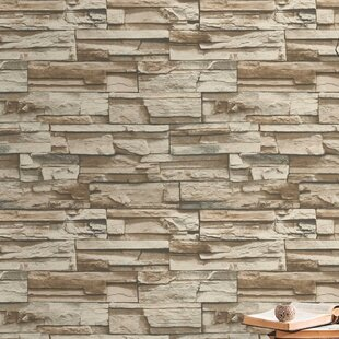 coleen stacked stone 165 l x 205 w brick peel and stick wallpaper roll
