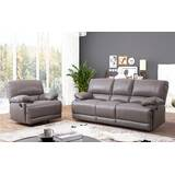Loper 2 Piece Leather Living Room Set by Red Barrel Studio