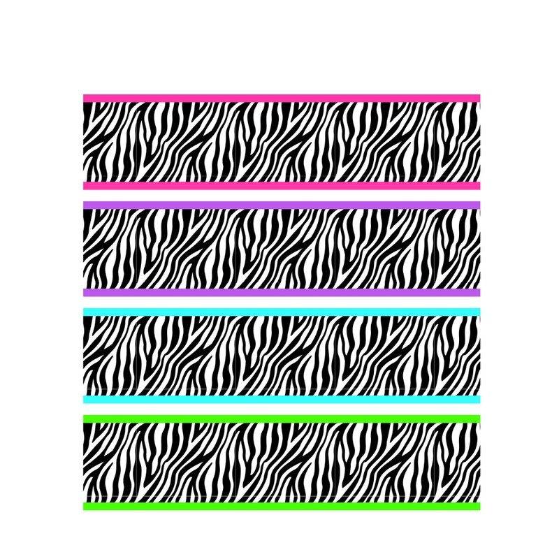 Stickers light unique zebra wall decorations ref 2058