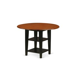 Tyshawn Drop Leaf Solid Wood Dining Table