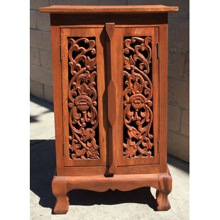 Craigatempin Carved 2 Door Accent Cabinet by World Menagerie