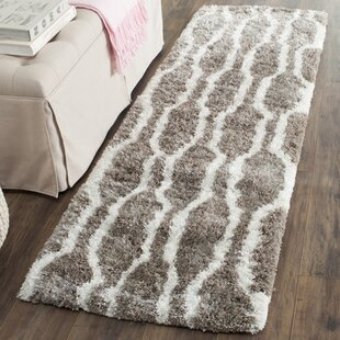 Great Price Barcelona Handmade Shag Cotton Silver/White Area Rug By Safavieh