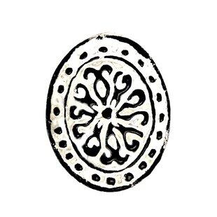 Floral Oval Knob (Set of 4)