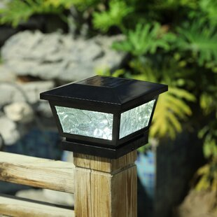 Winsome House Solar 1 Light LED Fence Post Cap