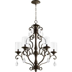Ophelia & Co. Miley 5-Light Shaded Chandelier