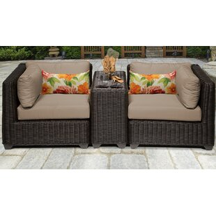 Mejia 3 Piece Outdoor Sofa Seating Group with Cushions