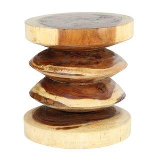 Sono Wood Rib End Table by Ibolili