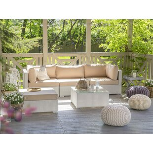 Searching for Mcloughlin Outdoor 5 Piece Rattan Sectional Set with Cushions Best & Reviews