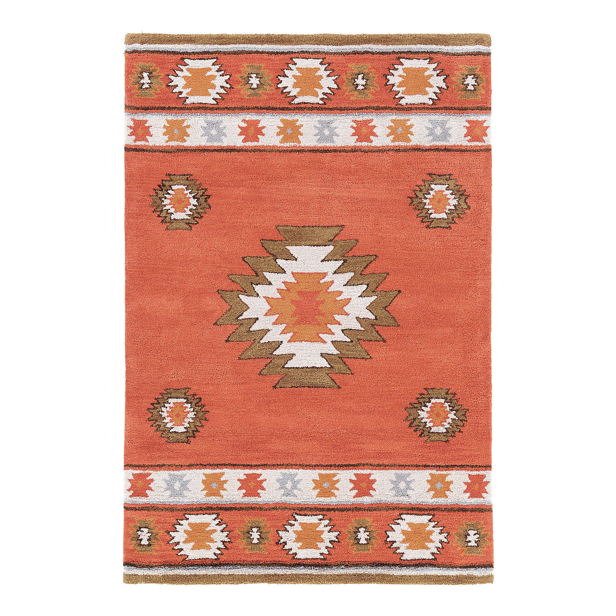 Union Rustic Joshua Hand Tufted Wool Red Rug Reviews Wayfair Co Uk