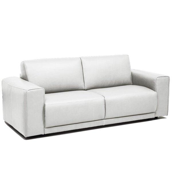 Off White Leather Sleeper Sofa Wayfair