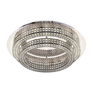 Rosdorf Park Lewandowski 2 Tier 2-Light Flush Mount