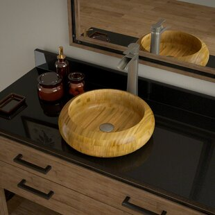 Looking for Bamboo Circular Vessel Bathroom Sink with Faucet ByMR Direct