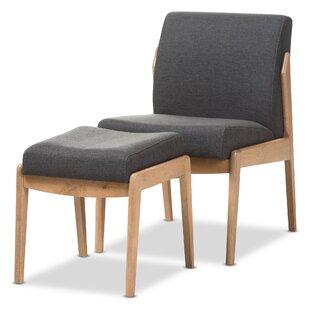 Langley Street Gustavo Slipper Chair and Ottoman