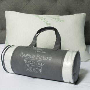 Hypoallergenic Rayon from Bamboo and Carry Bag Memory Foam Pillow