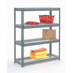 Nexel Wire Deck Rivet Lock 5 Shelf Shelving Unit