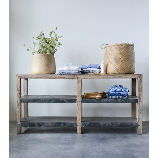 Kehl Reclaimed Wood & Metal Clad Console Table
