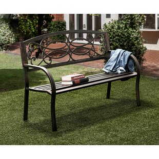 Swirling Romance Outdoor Garden Bench by Hokku Designs
