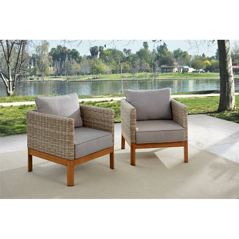 Nanette Patio Lounge Chairs With Cushions