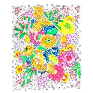 Floral Burst Framed Graphic Art
