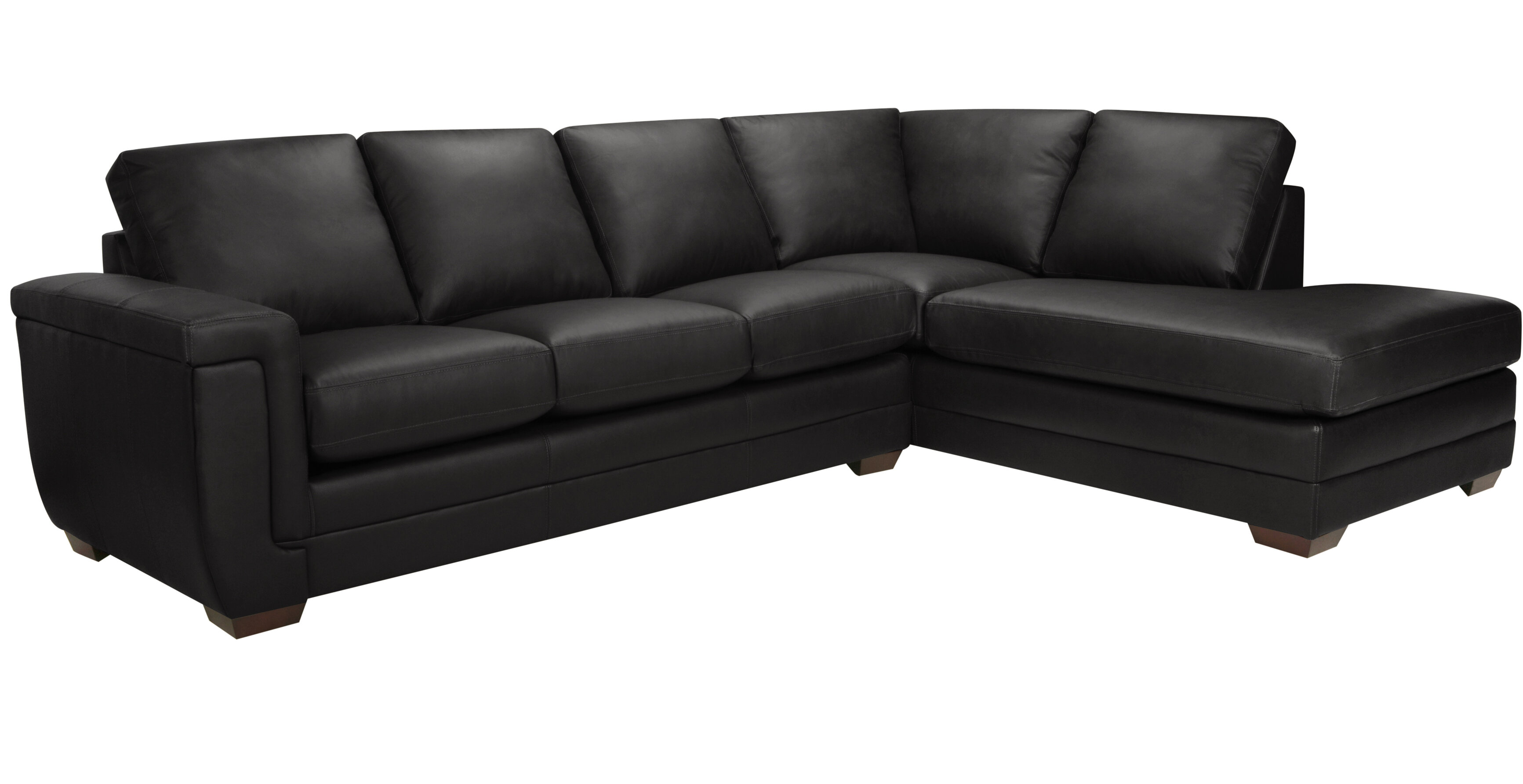 Gile Right Hand Facing Italian Leather Sectional