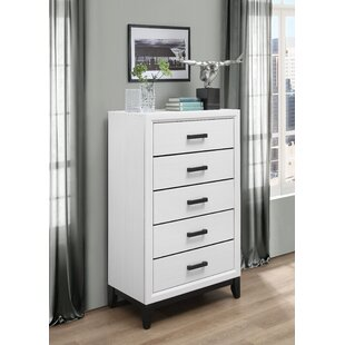 Compare Jerold 5 Drawer Chest by Williston Forge