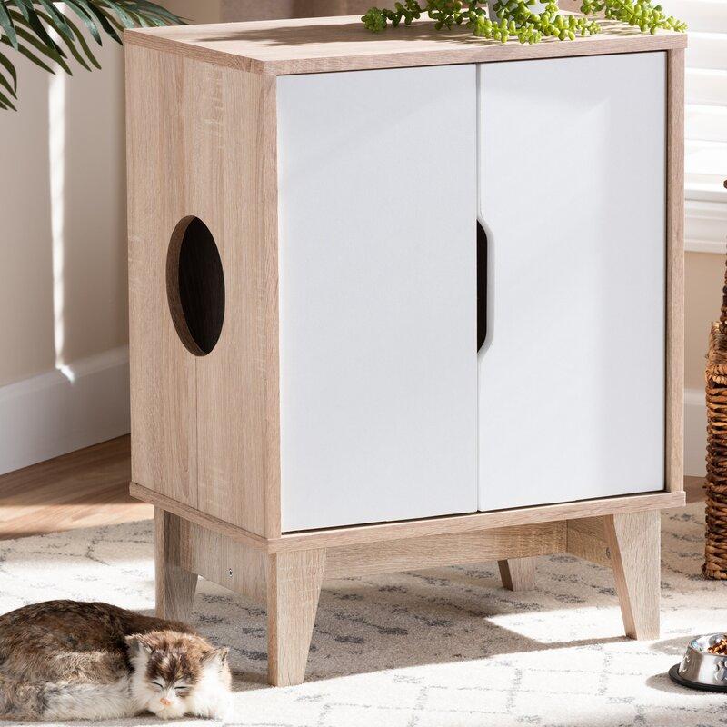 Chic Modern Cat Litter Box Enclosure