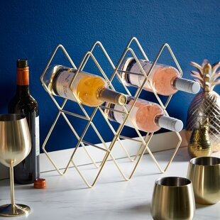 Freestanding 10 Bottle Tabletop Wine Rack..
