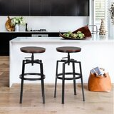 Tadcaster Adjustable Height Swivel Bar Stool (Set of 2) by Williston Forge
