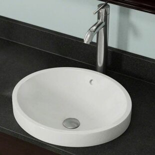 Purchase Vitreous China Circular Vessel Bathroom Sink with Overflow By Polaris Sinks