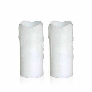 LED Votive Unscented Pillar Candle (Set of 2)