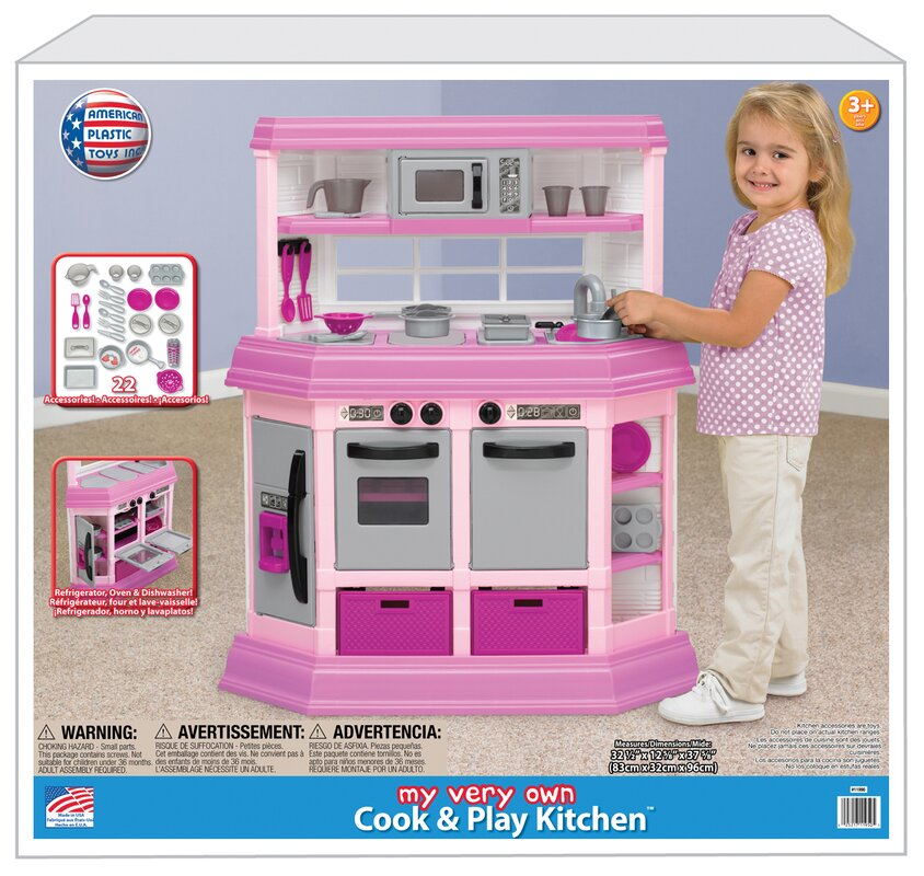 American Plastic Toys 22 Piece Cook and Play Kitchen Set & Reviews ...