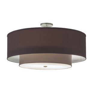Cilindro Textrene 2-Light Semi Flush Mount by Meyda Tiffany