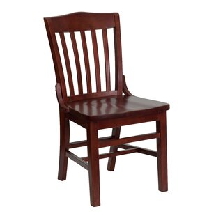 Orlison School House Back Solid Wood Dining Chair Red Barrel Studio