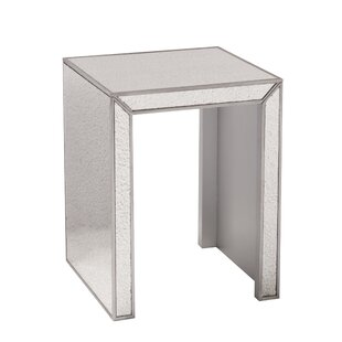 Top Reviews Dicha Mirrored Side Table by Rosdorf Park