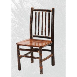 Great choice Hickory Spoke Back Side Chair by Fireside Lodge Reviews (2019) & Buyer's Guide