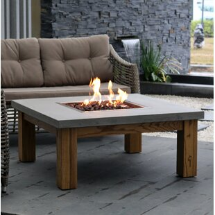 Amish Wood Natural Gas/Propane Fire Pit Table