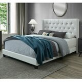 Nadine Queen Tufted Upholstered Low Profile Standard Bed by Willa Arlo Interiors