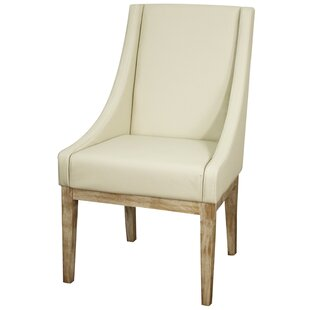 Charee Genuine Leather Upholstered Dining Chair