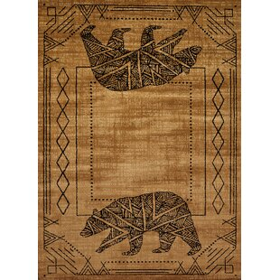 Compare & Buy Sayre Gold/Black Area Rug By Loon Peak