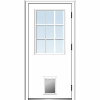 Verona Home Design Clear Glass 1-Lite Fiberglass Smooth
