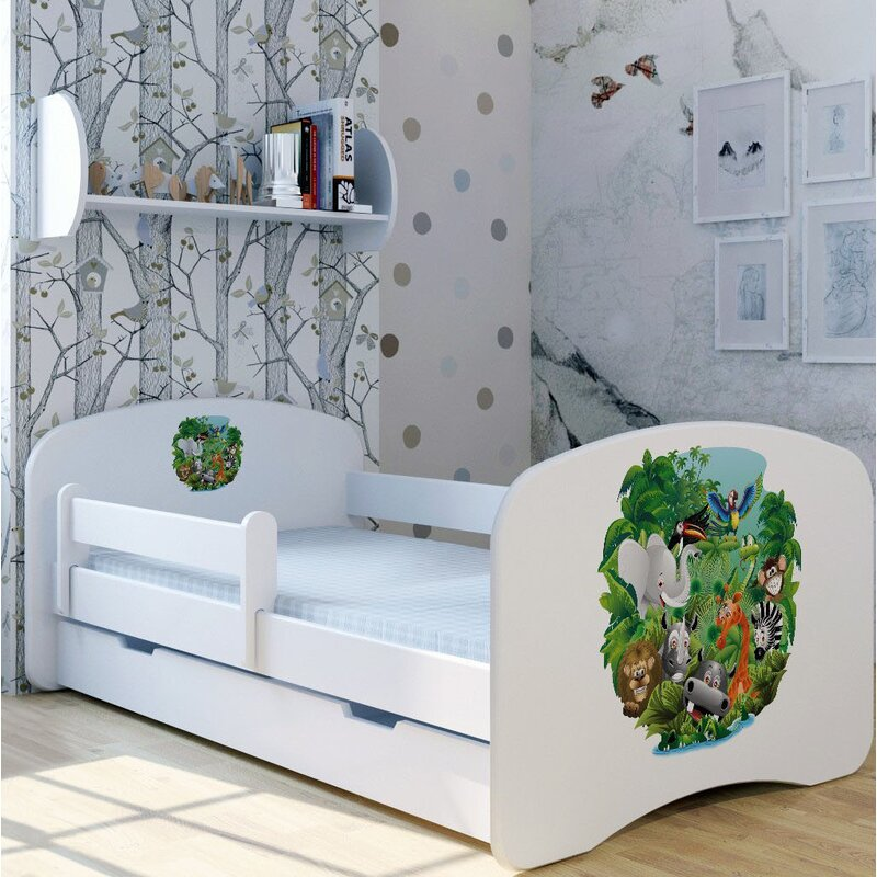 Zoomie Kids Jungle Camp Convertible Toddler Bed with ...