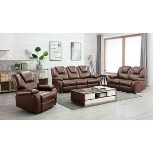 Izidora 3 Piece Reclining Living Room Set