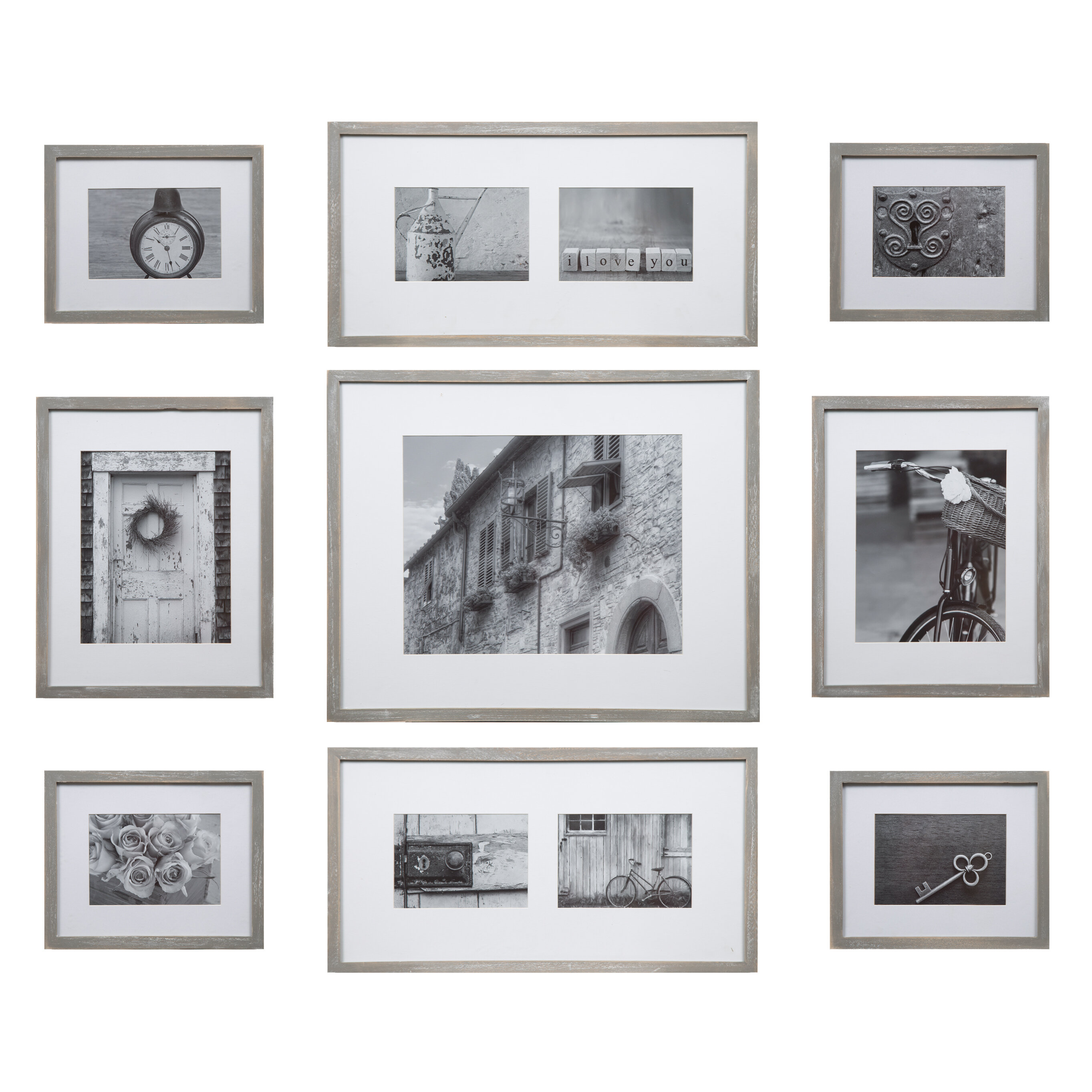 Gracie Oaks Marquard 9 Piece Wall Gallery Picture Frame Set