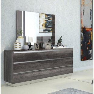 Doric 6 Drawer Double Dresser with Mirror by Orren Ellis