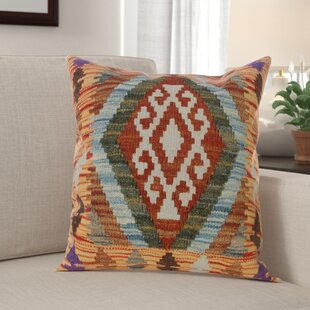 Bakerstown Hand-Woven Kilim Wool Throw Pillow