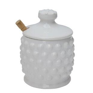 Ceramic Honey 2 Piece Storage Jar Set
