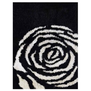 Ry Hand-Woven Black/White Indoor/Outdoor Area Rug