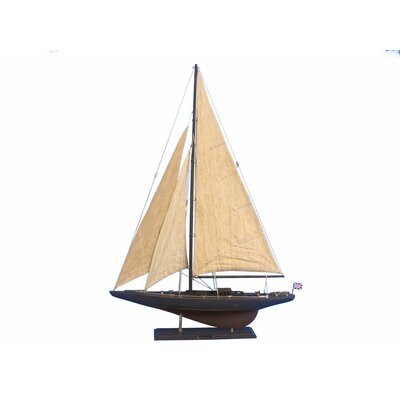 """Endeavour 35"""" Wooden Vintage Limited Model Sailboat Handcrafted Nautical Decor"""