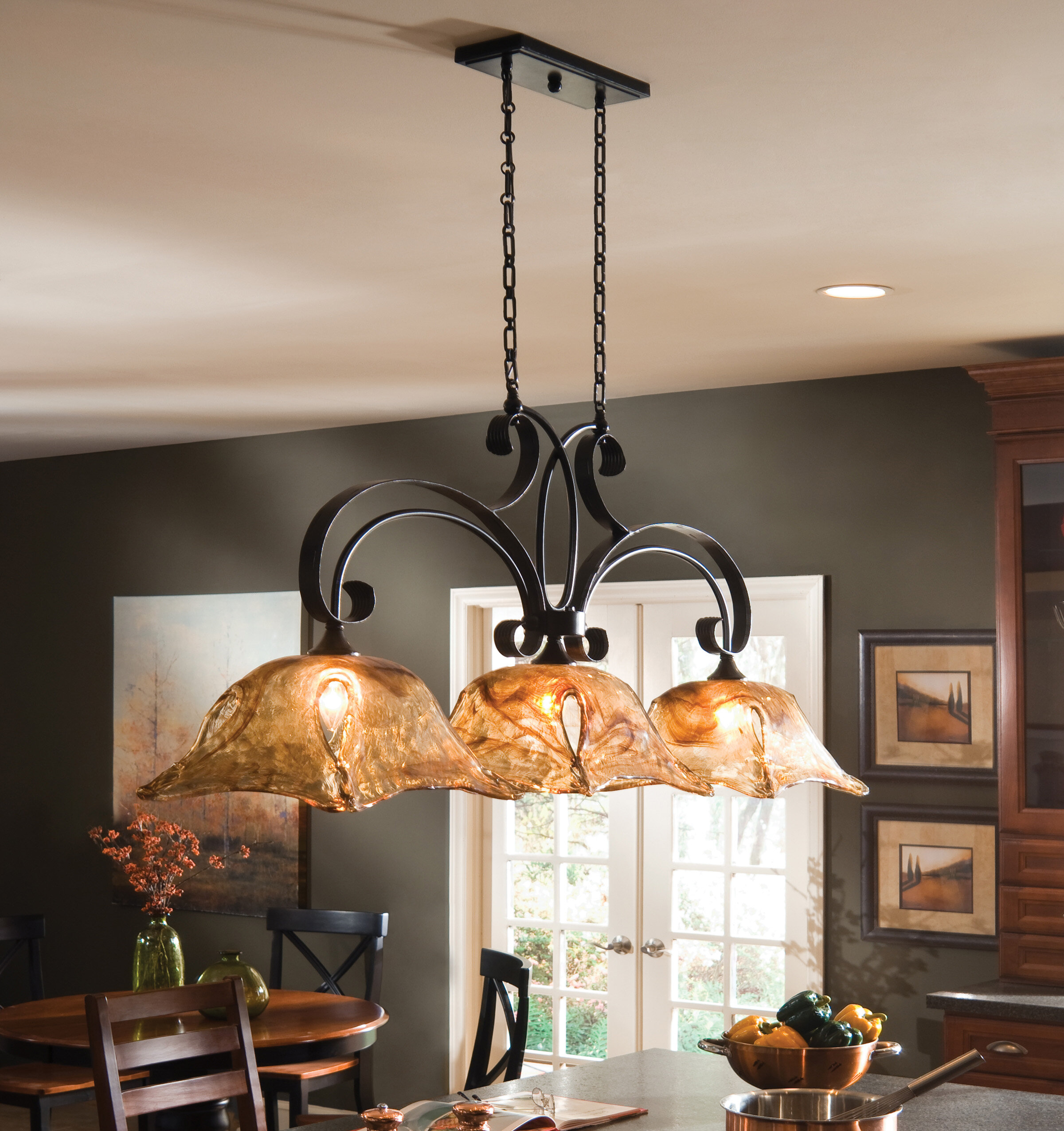 Constantine 10 - Light Kitchen Island Linear Pendant