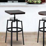 Garrett Adjustable Height Bar Stool by Gracie Oaks